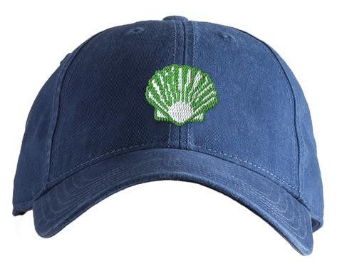 Green Scallop on Navy hat