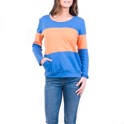 JANE HUDSON Colorblocked Sweatshirt