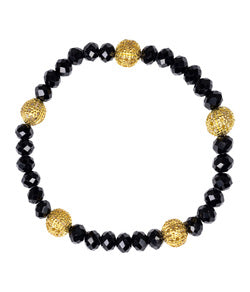 Lisi Lerch - Riley Bracelet with Gold beads