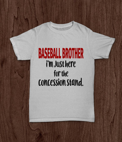 Baseball Brother, I'm Just Here For The Concession Stand, Youth T Shirt - Living Word Designs, Inspirational Home Decor