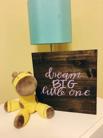 Nursery Decor, Dream Big Little One, Wood Sign, Baby Girl Room Decor - Living Word Designs, Inspirational Home Decor