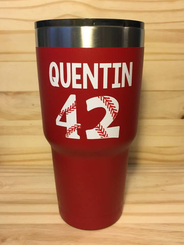Personalized Ozark Trail Tumbler, Baseball Tumbler, Softball Tumbler, Baseball Mom - Living Word Designs, Inspirational Home Decor