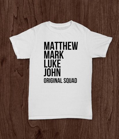 Youth Bible Theme T Shirt, Kid's T Shirt, Jesus' Original Squad, Inspirational T Shirt, Girl T Shirt, Boys T Shirt - Living Word Designs, Inspirational Home Decor