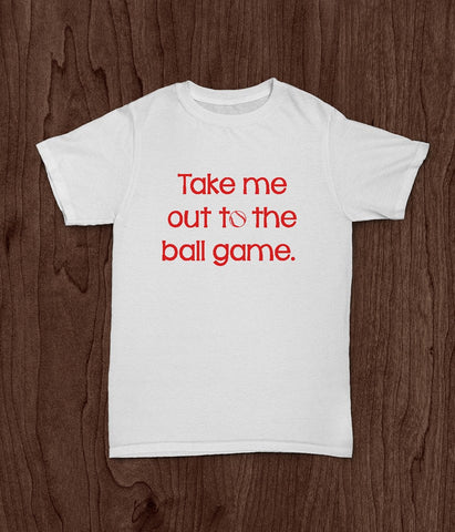 Youth T Shirt, Take Me Out To The Ball Game, Baseball Shirt, Kids Baseball Shirt - Living Word Designs, Inspirational Home Decor