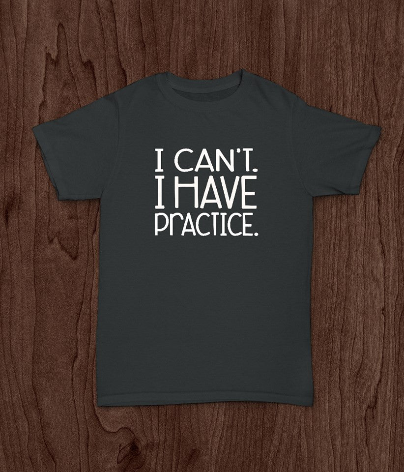 Youth Baseball T Shirt, I Can't, I Have Practice, Kids Baseball Shirt, Softball Shirt - Living Word Designs, Inspirational Home Decor