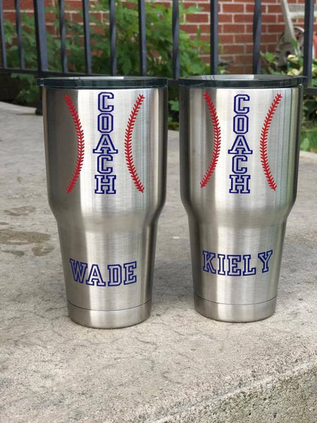Baseball Coach Tumbler, Thank You Gift, Coach Travel Mug - Living Word Designs, Inspirational Home Decor