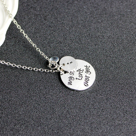 My Story Isn't Over Yet Chain Necklace, Suicide Awareness, Semicolon Necklace - Living Word Designs, Inspirational Home Decor