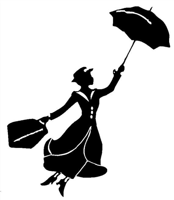 Mary Poppins,  Nanny, Vinyl Decal, Car Window Sticker - Living Word Designs, Inspirational Home Decor