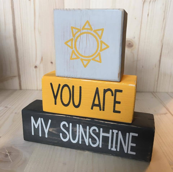 Custom Wood Blocks, Baby Boy, Baby Girl, Nursery Blocks, You Are My Sunshine, Nursery Decor - Living Word Designs, Inspirational Home Decor