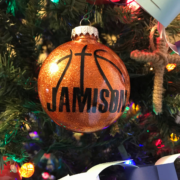Custom Basketball Christmas Tree Ornament - Living Word Designs, Inspirational Home Decor