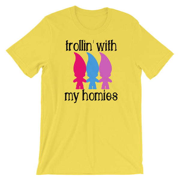 Trolling With My Homies, Funny T Shirt, Trolls Inspired, Adult T Shirt - Living Word Designs, Inspirational Home Decor