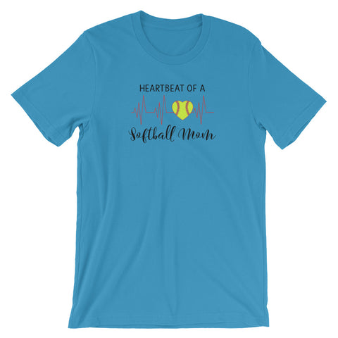 Heartbeat of a Softball Mom T Shirt - Living Word Designs, Inspirational Home Decor