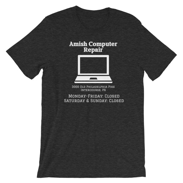 Amish Computer Repair, Funny Company Shirt