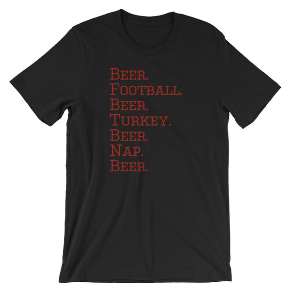 Beer, Turkey, and Football Funny Holiday T Shirt - Living Word Designs, Inspirational Home Decor