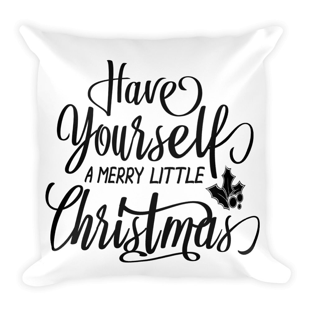 Have Yourself a Merry Little Christmas Throw Pillow - Living Word Designs, Inspirational Home Decor