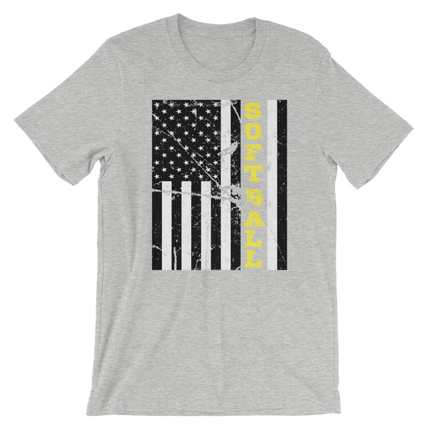 American Pride and Softball T Shirt - Living Word Designs, Inspirational Home Decor
