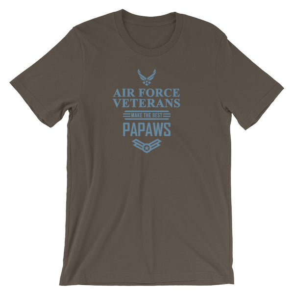 Air Force Veterans Make The Best Papaws, Grandpa Veteran T Shirt - Living Word Designs, Inspirational Home Decor