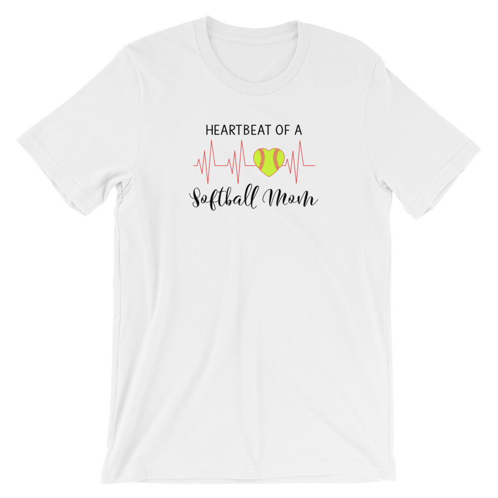 Heartbeat of a Softball Mom T Shirt – Living Word Designs