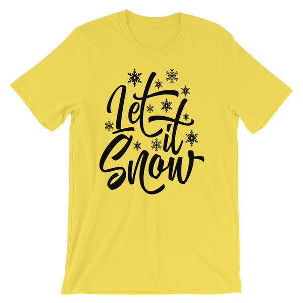 Let It Snow Winter T Shirt, Adult Shirt - Living Word Designs, Inspirational Home Decor