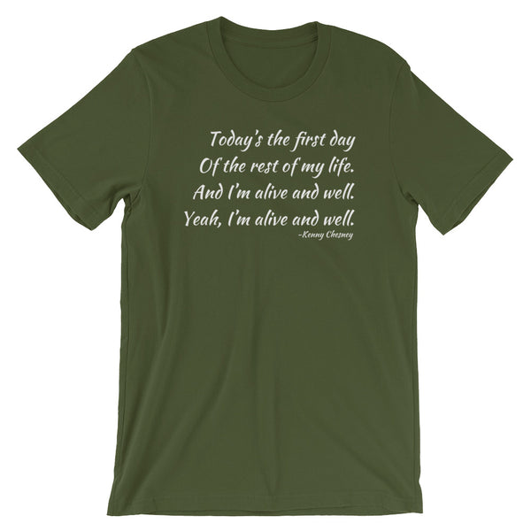 Kenny Chesney Song Lyrics Shirt, I'm Alive, Concert T Shirt