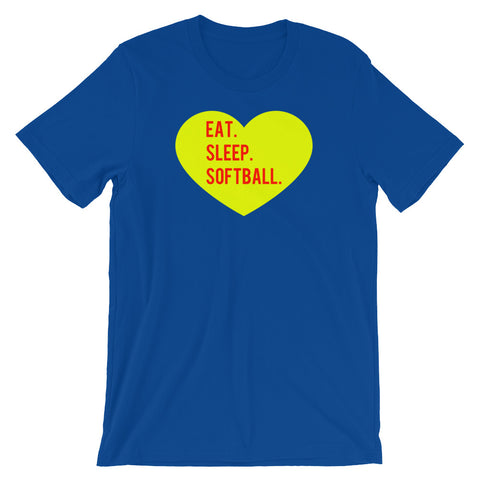 Eat Sleep Softball Shirt, I Love Softball Shirt, Adult T Shirt