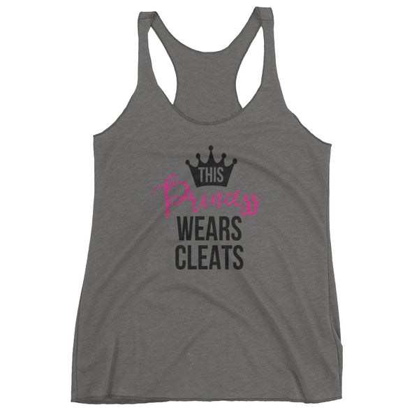 This Princess Wears Cleats Ladies Tank Top, Softball Tank - Living Word Designs, Inspirational Home Decor
