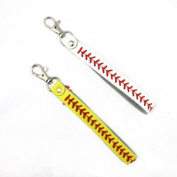 Softball and Baseball Key Chain - Living Word Designs, Inspirational Home Decor