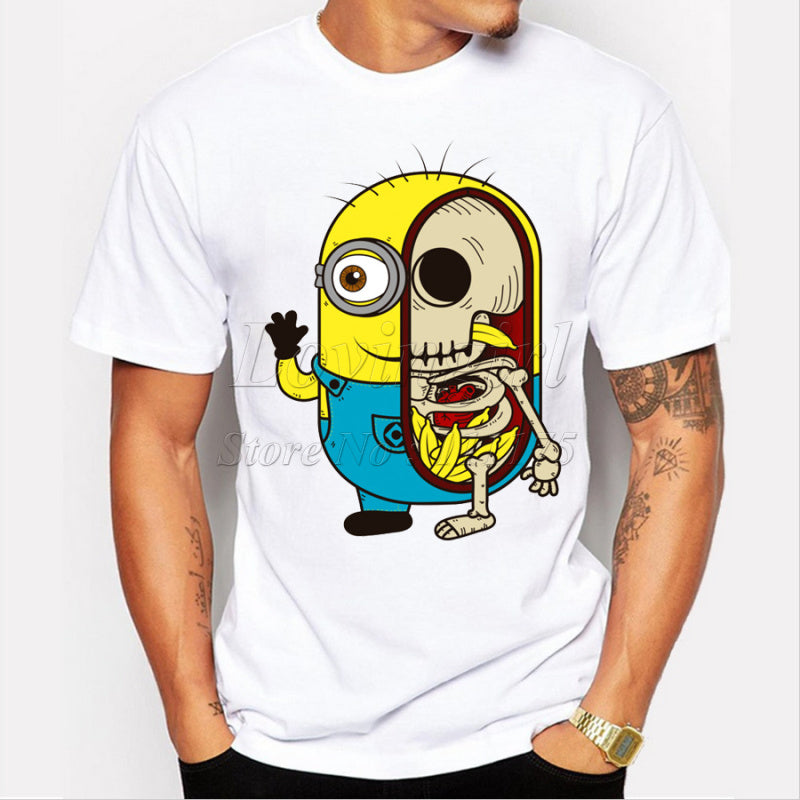 Minion Skeleton Funny Adult T Shirt, Banana T Shirt - Living Word Designs, Inspirational Home Decor