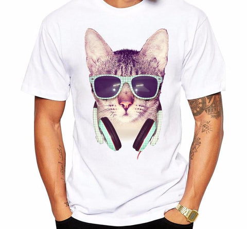 Cool Cat Funny Adult t Shirt,  Short Sleeve, Cat T Shirt - Living Word Designs, Inspirational Home Decor