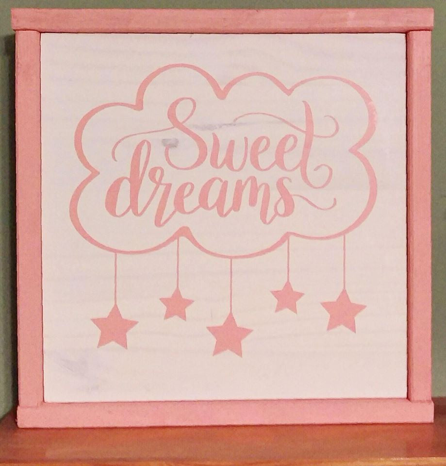 Baby's Room Decoration, Sweet Dreams Wood Sign, Baby Nursery - Living Word Designs, Inspirational Home Decor