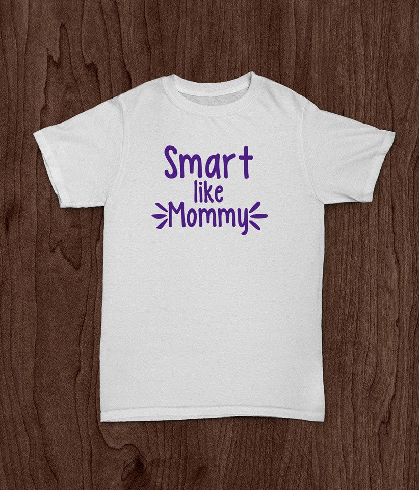 Smart Like Mommy, Youth T Shirt, Inspirational, Girls T Shirt, Boys T Shirt - Living Word Designs, Inspirational Home Decor