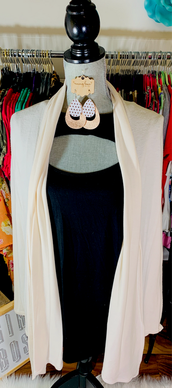 Solid Ivory Cardi