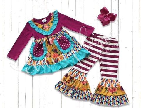 Maroon Fall Floral Set