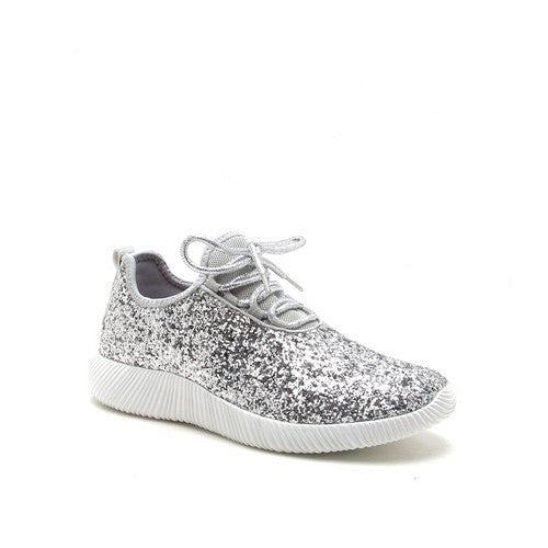 Silver Glitter Adult Shoes