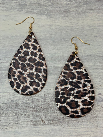 Baby Cheetah Cork Teardrops