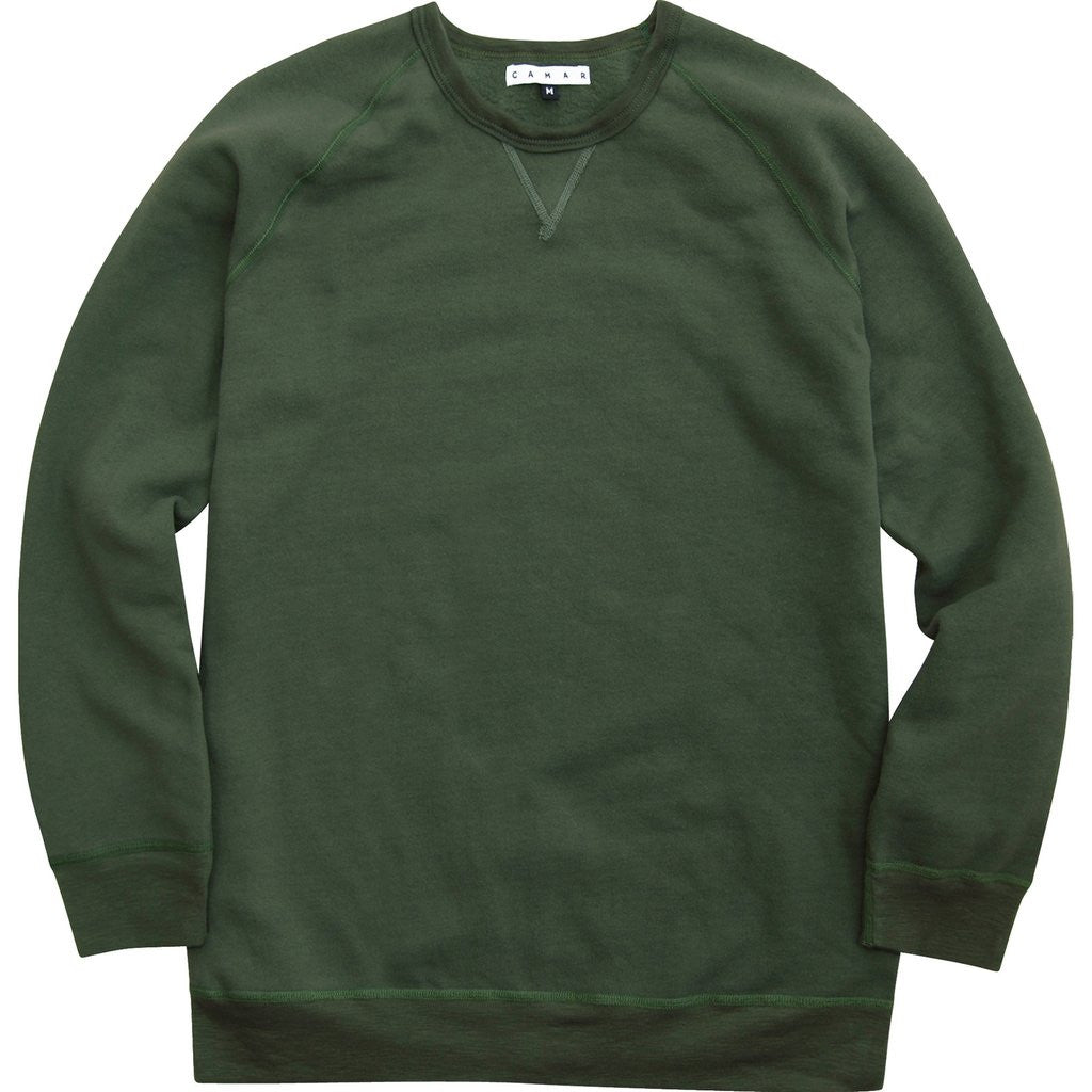 Over Dyed Crew (Olive)