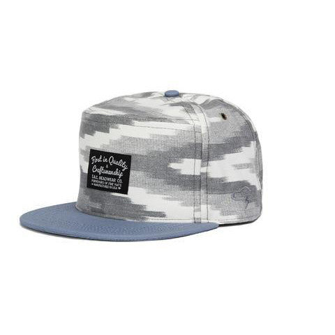 La Paz Strapback Hat (Grey/White/Blue)