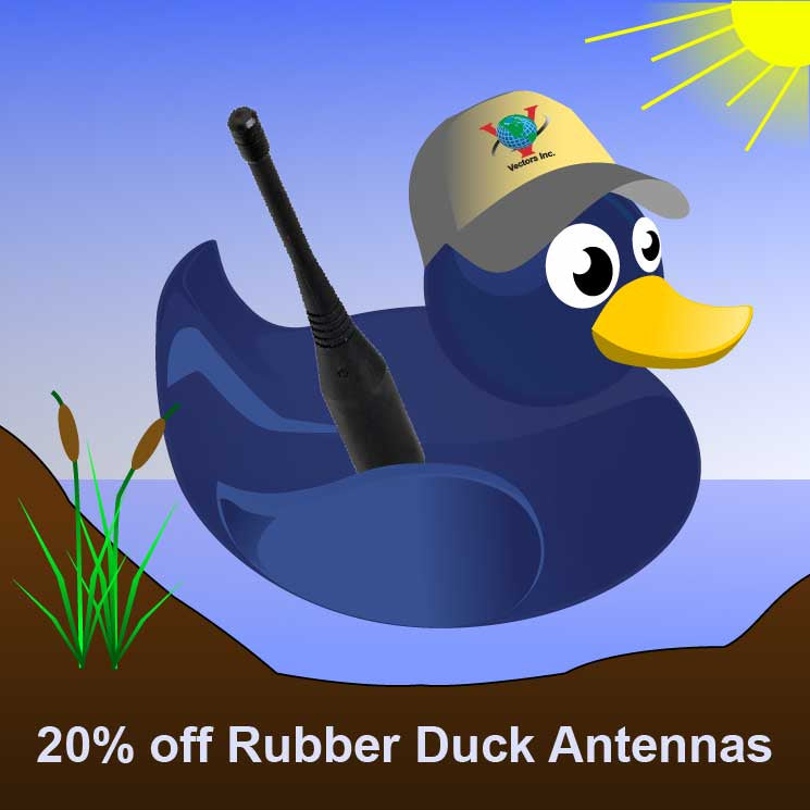 Don't Duck This Offer!  20% off Rubber Duck and Whip Antennas