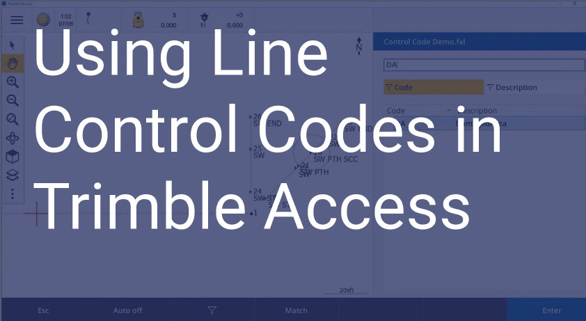 Using Line Control Codes in Trimble Access
