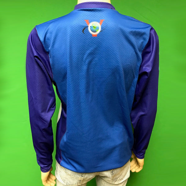 Vectors Inc. Blue Long Sleeve Technical UPF 50 Shirt