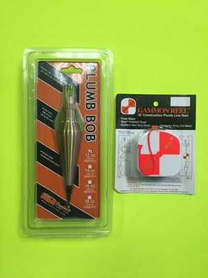 Plumb Bob and Gammon Reel Set-Vectors Land Survey Super Store-Vectors Inc.