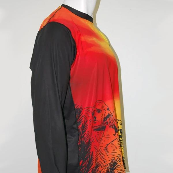 Vectors Inc. Mt. Rushmore Long Sleeve Technical UPF 50 Shirt