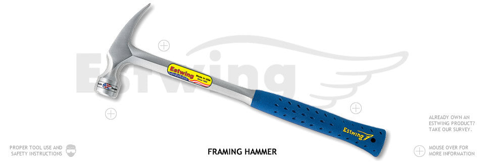 SECO Eastwing 30 oz. Solid Steel Hammer with Shock Reduction Grip-Vectors Inc.-Vectors Inc.