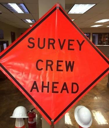 "ChrisNik 48"" Sign Survey Crew Ahead  4026048-EV-HF"