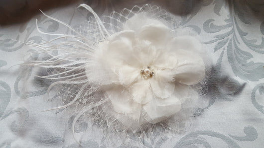 Ivory Flower Hair Accessory
