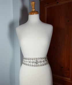 Sash Ivory with Crystal