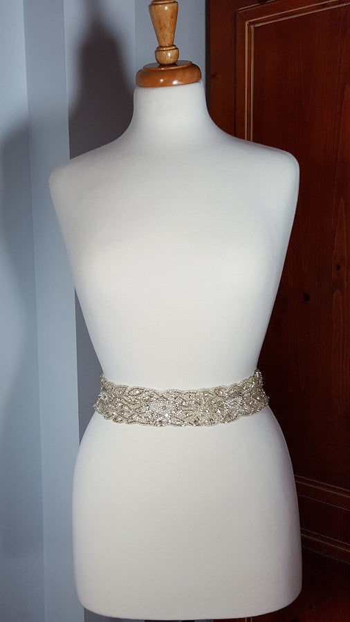 Beaded Crystal Sash