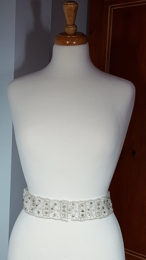 Sash Beaded, Crystals and Pearls