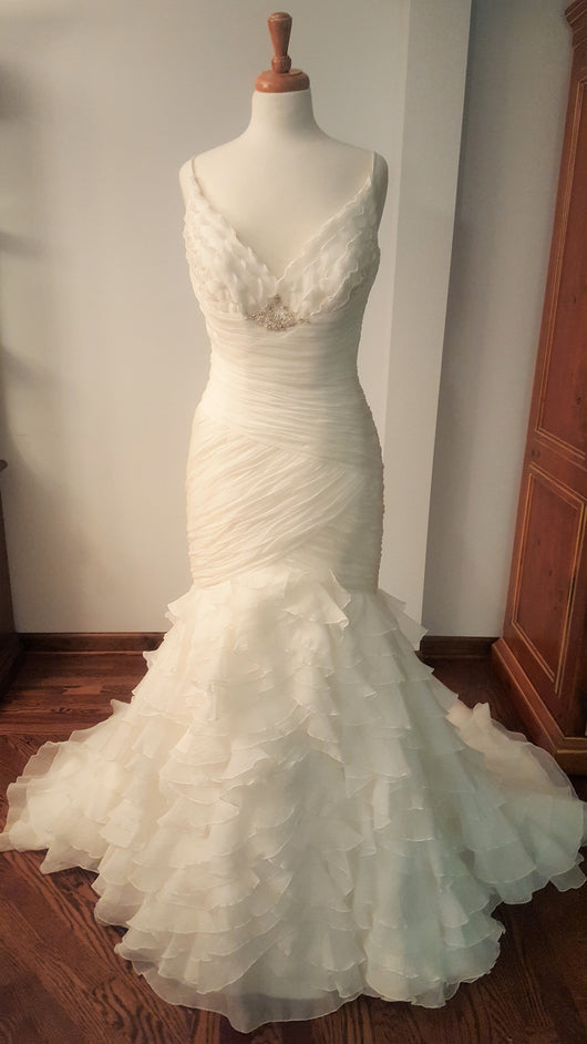 Trumpet Ruffles Wedding Dress