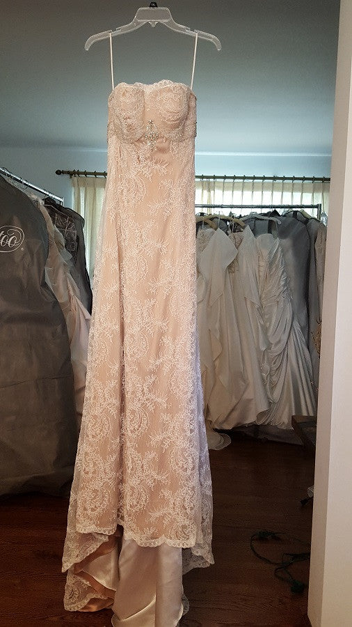 Angelina Sheath Lace Wedding Gown